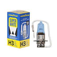 GOODYEAR Лампа автомобільна галогенна H3 12V 55W PK22s Super White