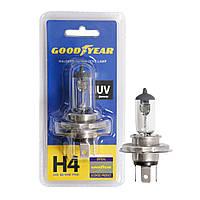 GOODYEAR Лампа автомобільна галогенна H4 12V 60/55W P43t (блістер), фото 1