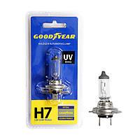 GOODYEAR Лампа автомобильная галогенная H7 12V 55W PX26d (блистер), фото 1