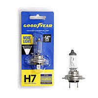 GOODYEAR Лампа автомобільна галогенова H7 12V 55W PX26d More Light (блістер), фото 1
