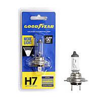 GOODYEAR Лампа автомобильная галогенная H7 12V 55W PX26d More Light (блистер), фото 1