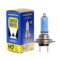 GOODYEAR Лампа автомобильная галогенная H7 12V 55W PX26d Super White, фото 1