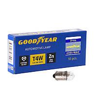 GOODYEAR Лампа розжарювання автомобільна T4W 12V 4W BA9s (коробка: 10 шт.), фото 1