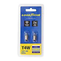GOODYEAR Лампа розжарювання автомобільна T4W 12V 4W BA9s (блістер 2 шт)