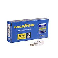 GOODYEAR Лампа розжарювання автомобільна W5W 12V 5W W2.1x9.5d (коробка: 10 шт.)