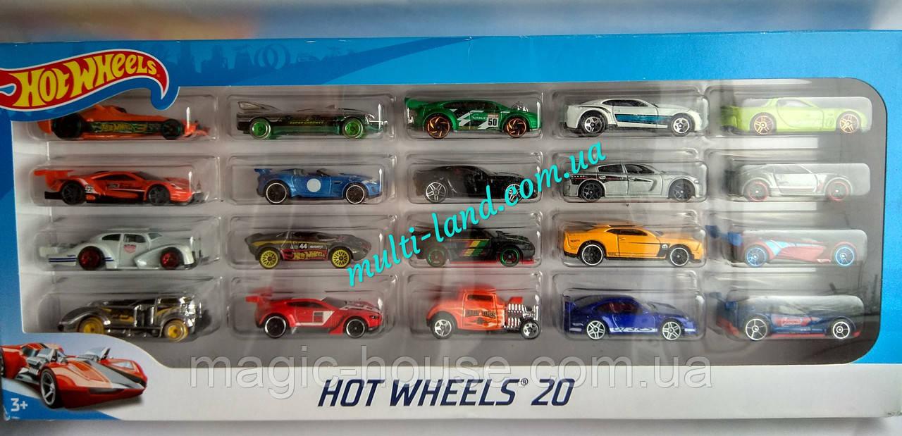 Хот Вилс Набор 20 машинок Оригинал от Mattel Hot Wheels 20 Car Pack