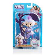Оригинальная интерактивная ручная обезьянка Кики Блестящая Wow Wee Fingerlings Glitter Monkey Kiki (Purple Gli, фото 3
