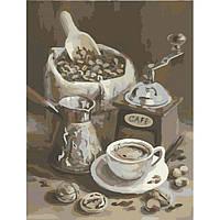 """Картина по номерам. Букеты """"Утренний кофе"""" 40х50см KHO2047"""
