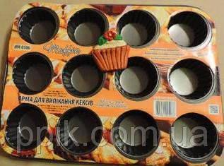 Форма для кексов рифлен. на 12 шт. (35*26,5cm), фото 2
