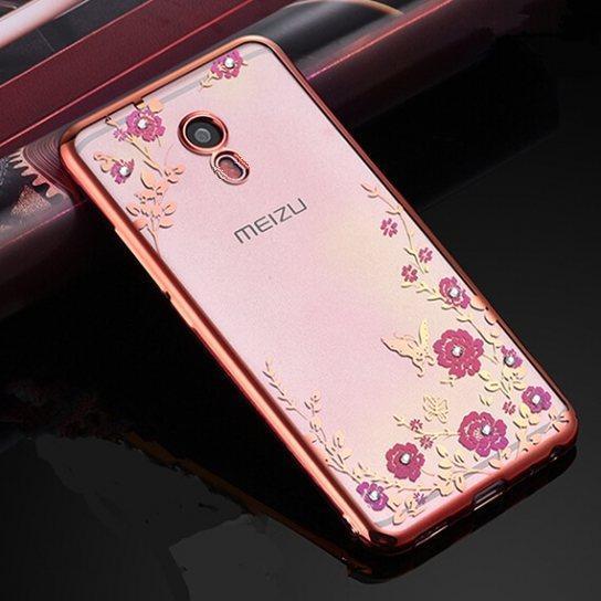 Чехол силиконовый TPU Glaze rose gold для Meizu M2 Note