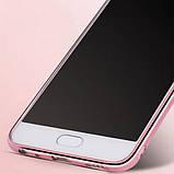 Чехол силиконовый TPU Glaze rose gold для Meizu M2 Note, фото 4