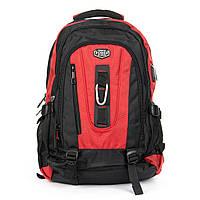 Удобный рюкзак для города и туризма нейлоновый черно-красный POWER IN EAVAS 50*35*25 см(43 литра), 8215 red