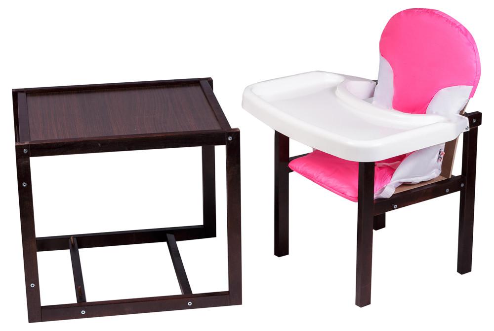 Стульчик- трансформер For Kids Бук-04 темный пластиковая столешница  розовый