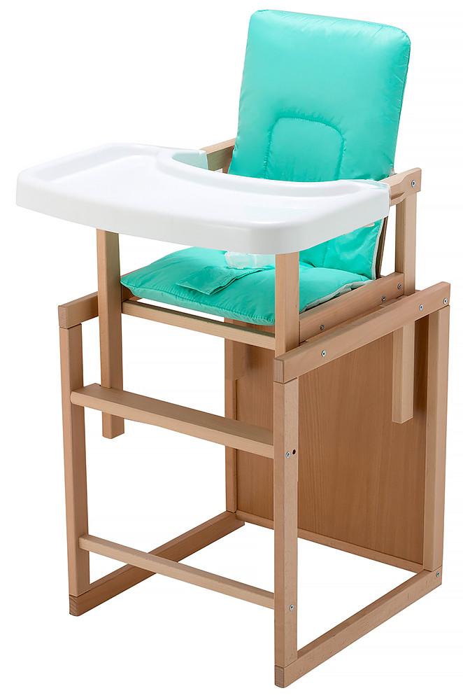 Стульчик- трансформер For Kids Бук-01 ЕСО пластиковая столешница  бирюзовый