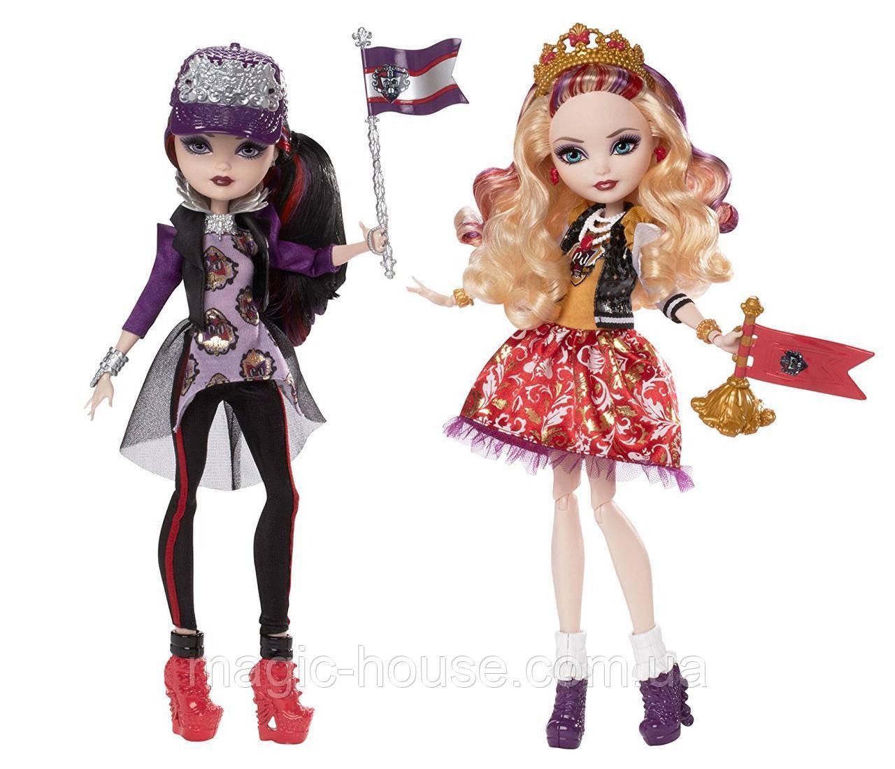 Ever After High School Spirit Apple White and Raven Queen Doll Набор кукол Эвер Афтер Хай Рейвен Квин и Эппл У