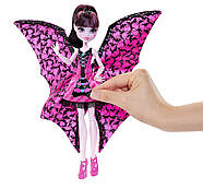 Кукла Монстер Хай Дракулаура Летучая Мышь Monster High Ghoul-to-Bat Transformation Draculaura Doll, фото 10