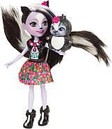 Кукла Энчантималс Скунси Сейдж и Скунс Кaпер  Enchantimals Sage Skunk and Caper, фото 6