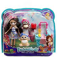 Игровой набор Энчантималс Пикник на природе  Enchantimals Paws for a Picnic Doll and Playset, фото 6