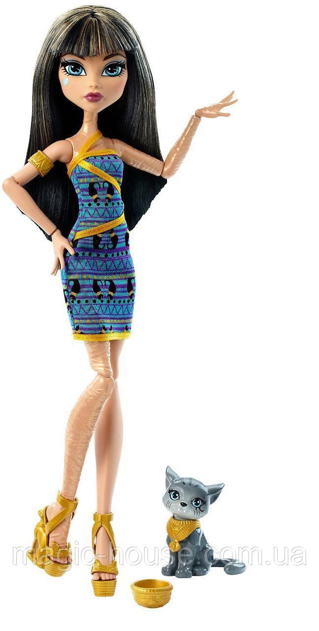 Кукла Монстер Хай Клео де Нил с питомцем Monster High Ghoul's Beast Pet Cleo De Nile