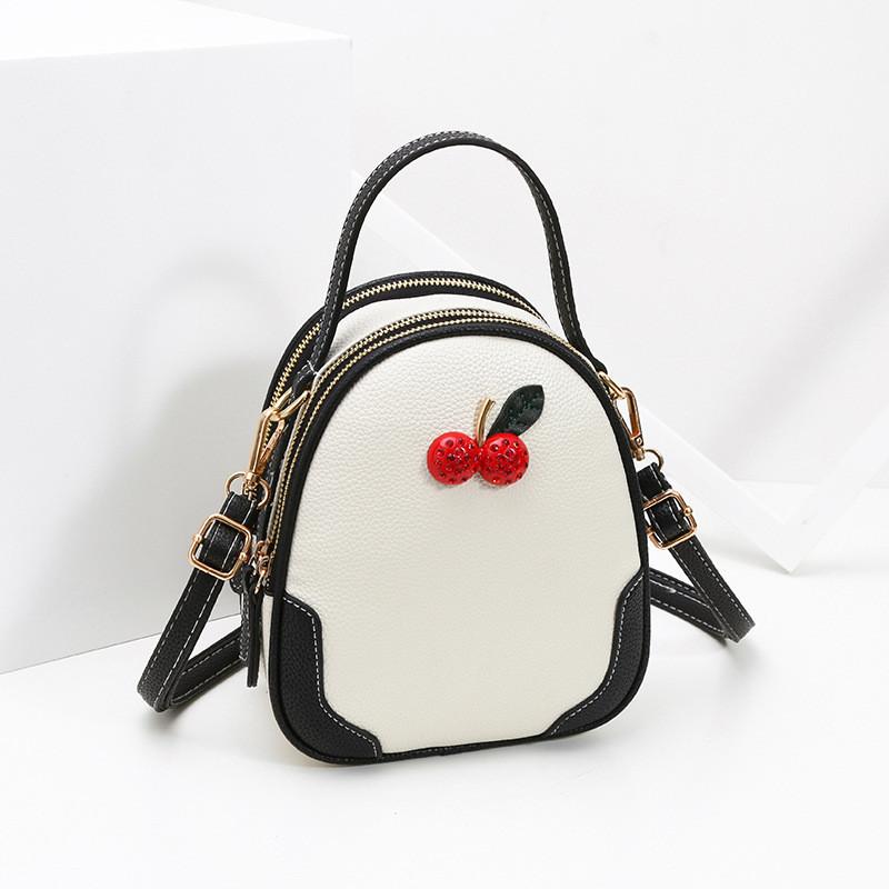 Рюкзак мини женский Cherry white