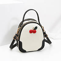 Рюкзак мини женский Cherry white, фото 1
