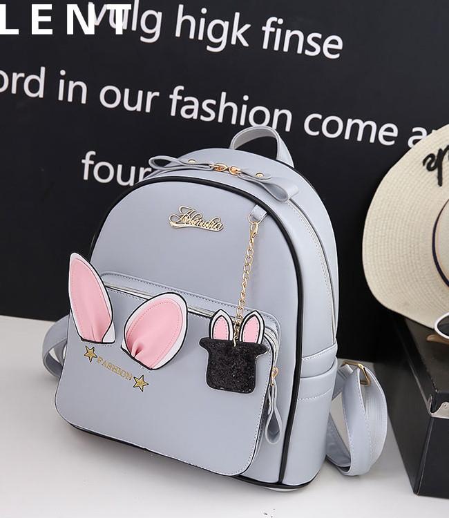 Рюкзак городской женский Rabbit gray