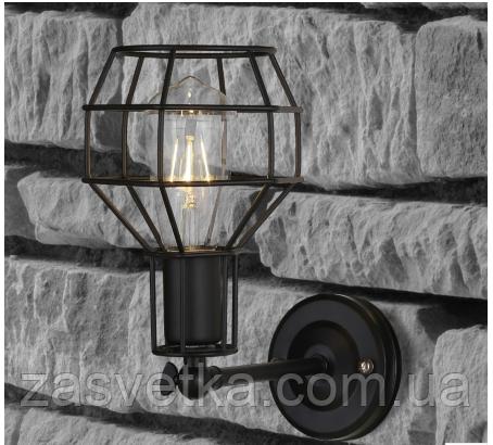 Настенный светильник ,бра лофт 707W116-1BK