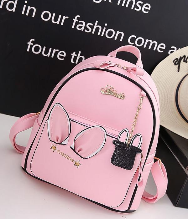 Рюкзак городской женский Rabbit pink