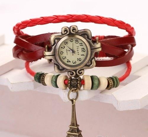 Винтажные женские наручные часы Shambala red (красный)
