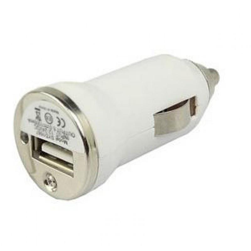 Автомобильная зарядка USB от прикуривателя Simple white (белый)