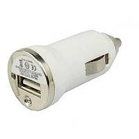 Автомобильная зарядка USB от прикуривателя Simple white (белый), фото 1