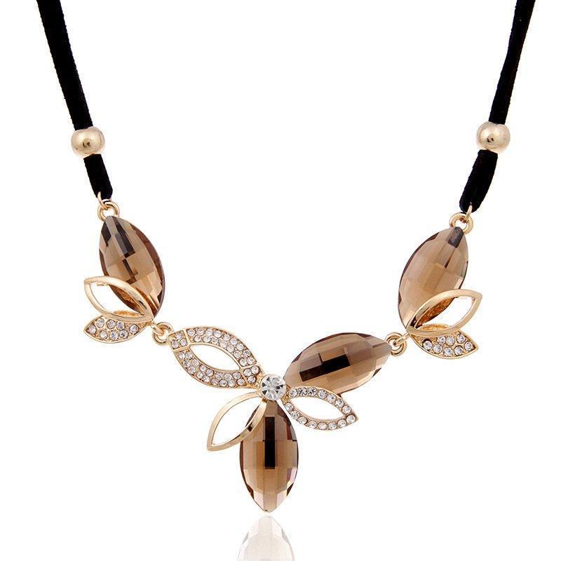 Колье ожерелье женское Agata brown