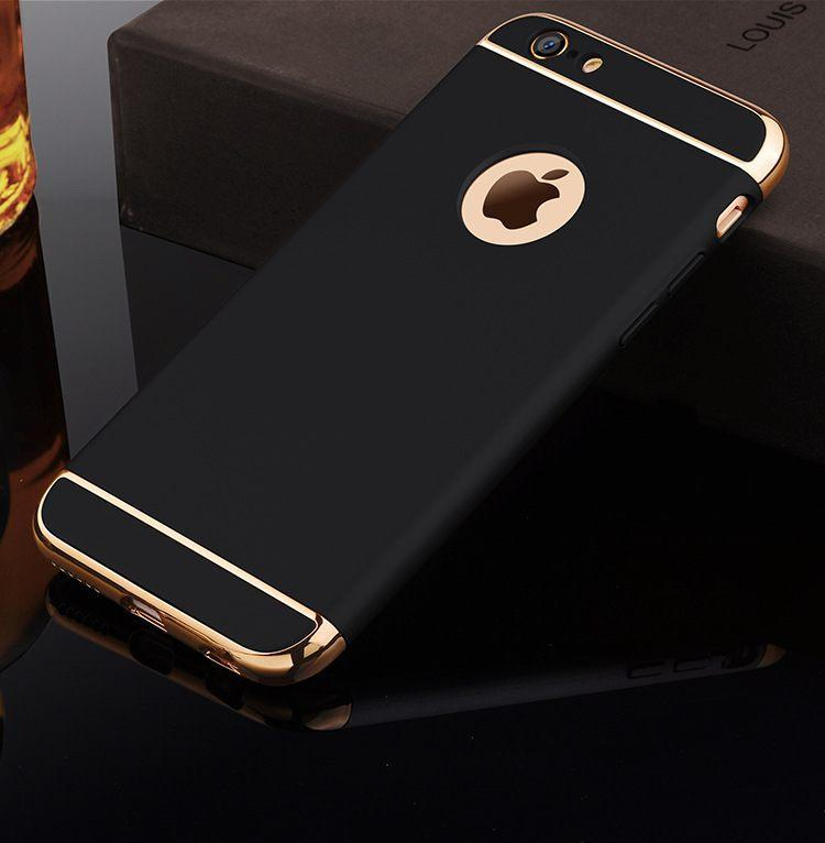 Накладка, задняя панель Elitecover для iPhone 6/6S black-gold