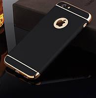 Накладка, задняя панель Elitecover для iPhone 6/6S black-gold, фото 1