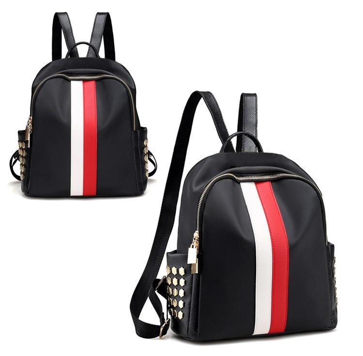 Стильный женский рюкзак Runway red-white