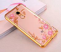 Чехол силиконовый TPU Glaze gold для Xiaomi Redmi Note 4X, фото 1