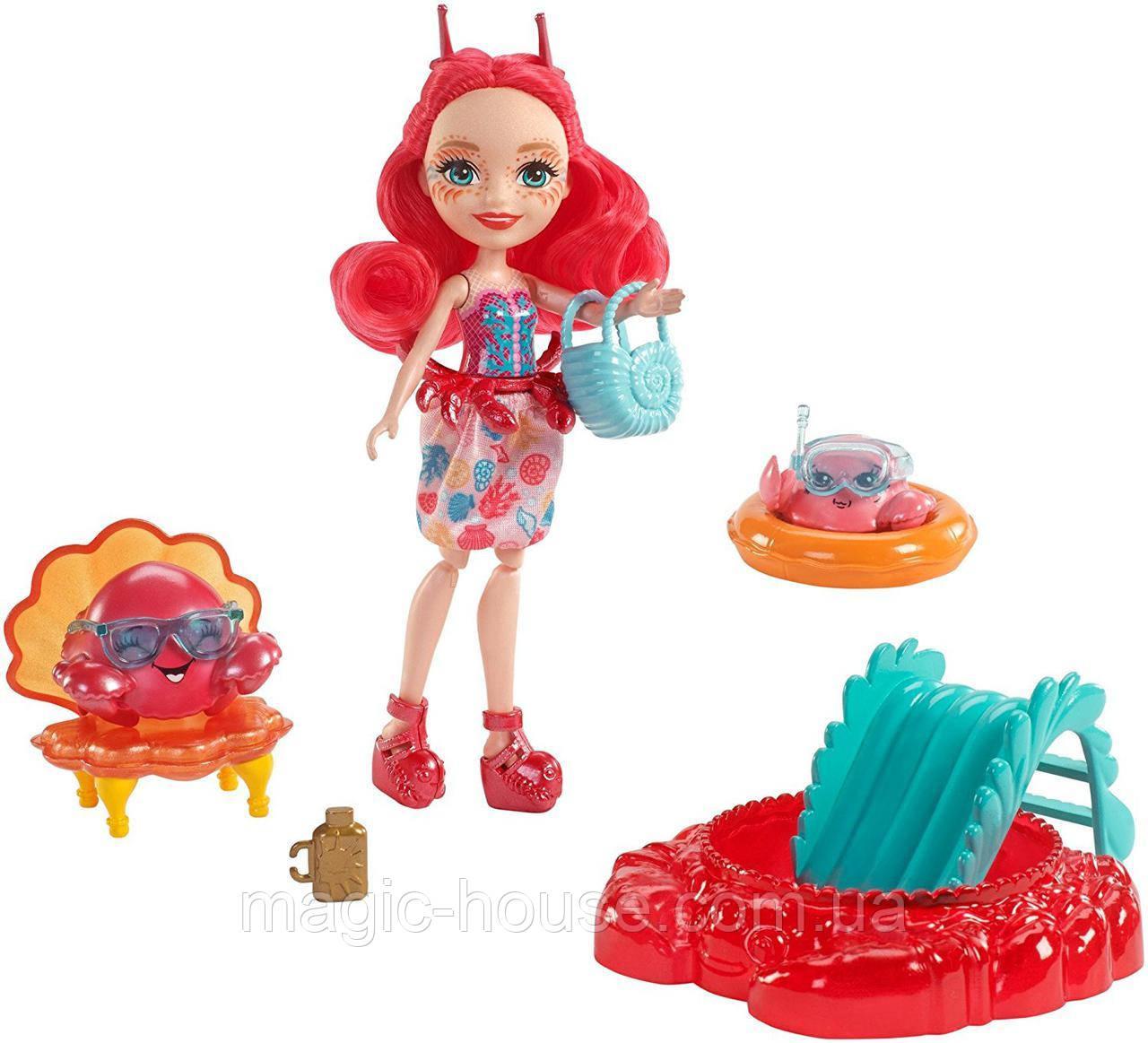 Кукла Энчантималс Краб Камео и крабик Чела Enchantimals Cameo Crab Dolls