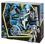 Кукла Монстер Хай Френки Штейн на велосипеде Оригинал от Маттел Monster High Bol Frankie Stein Doll & Vehicle, фото 2