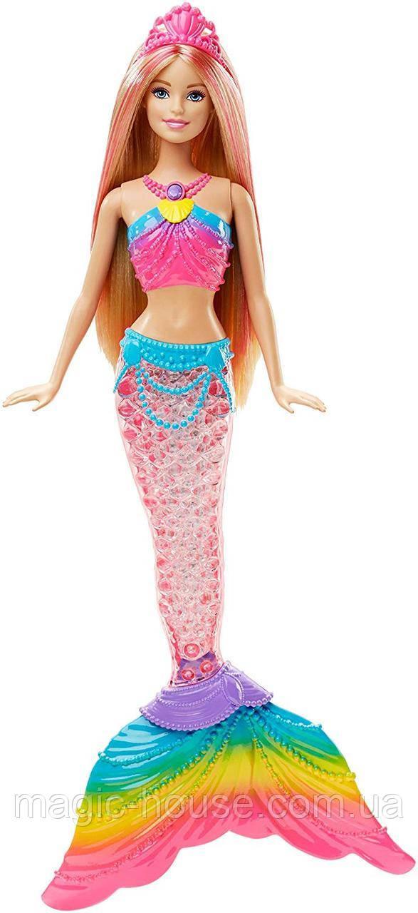 КуклаBarbie-русалка радужные огоньки, блондинкаDreamtopia Mermaid Rainbow Lights Doll