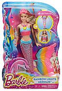 КуклаBarbie-русалка радужные огоньки, блондинкаDreamtopia Mermaid Rainbow Lights Doll, фото 7