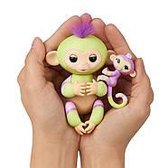 Интерактивная обезьянкаФингерлинг Джес с малышкой Эдэн ОригиналFingerlings Baby Monkey Jess & Eden, фото 6