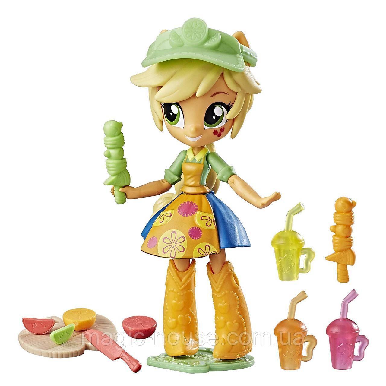 Набор My Little Pony куколкаМай литл пони мини Эпплджек магазин фруктовых смузиEquestria Girls Applejack Fru
