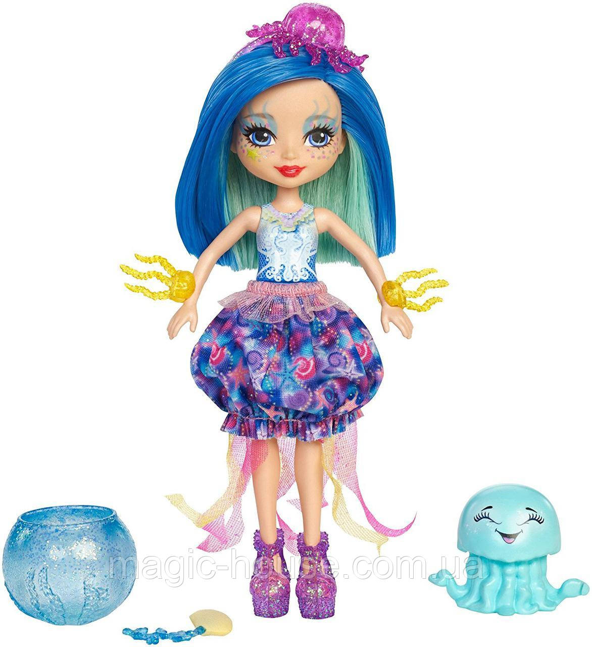 Кукла Энчантималс Медуза Джесса и друг медуза Мариса  Enchantimals Jessa Jellyfish & Marisa Water Animal Figu