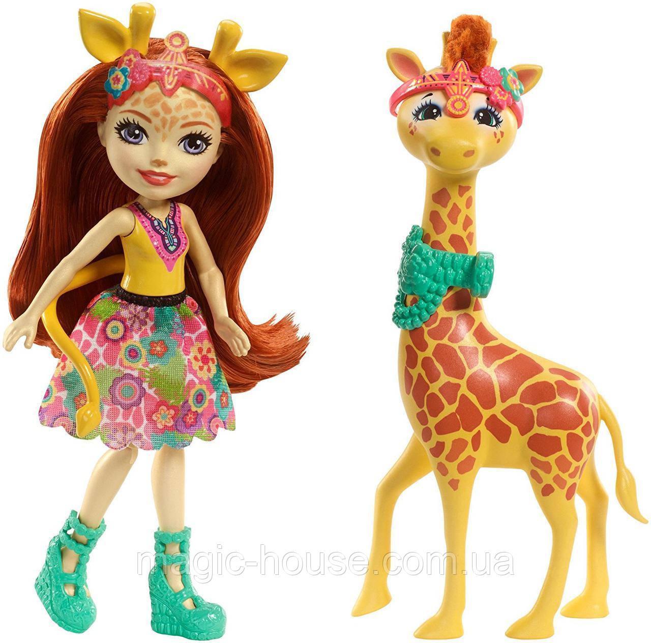 Кукла Энчантималс Жираф Джиллиан и друг Повл Enchantimals Gillian Giraffe s Fashion Dolls