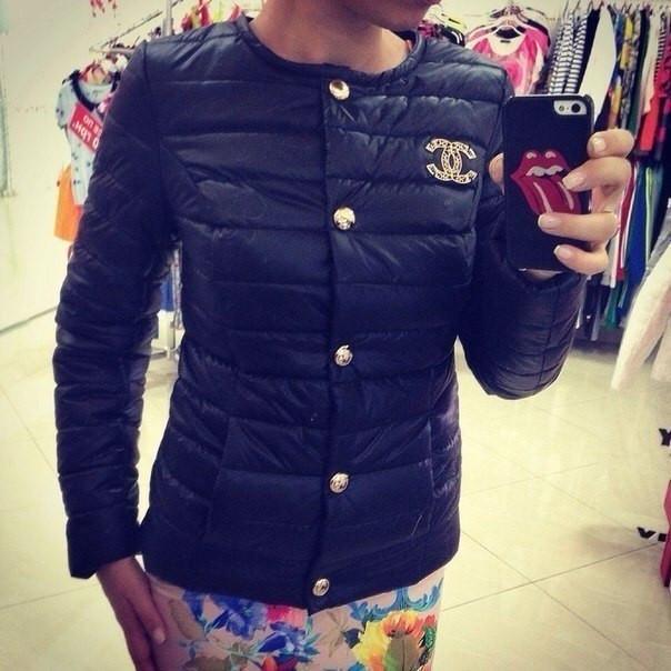 Женские куртки шанель черные  продажа, цена в Одессе. куртки женские ... 4fdf93073ba