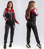 """Стильый женский спортивный костюм двухнить до больших размеров 145 """"PINK"""" в расцветках"""
