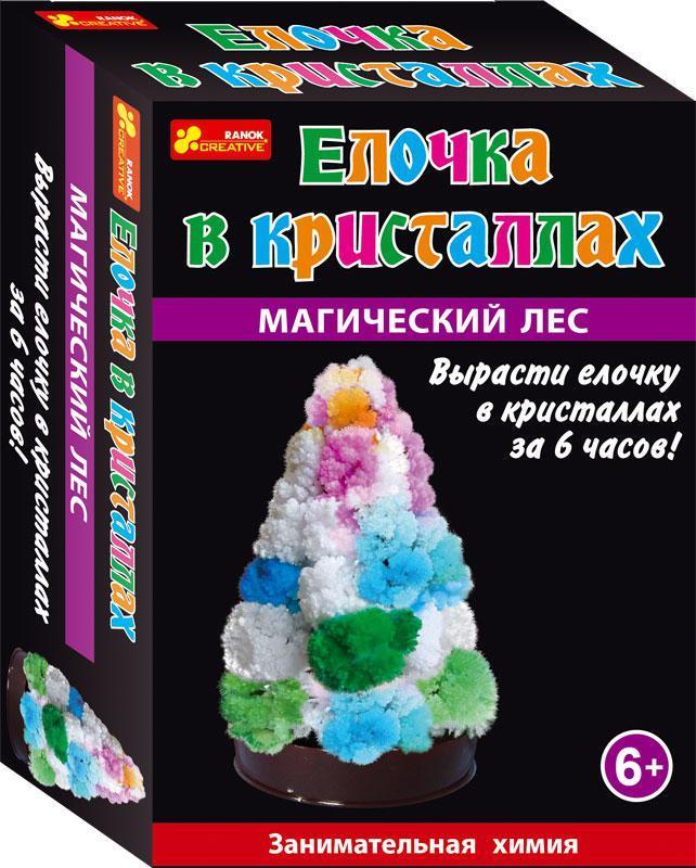 """Научная мини-игра """"Дерево в кристаллах. Елочка (разноцветная)"""""""