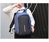 Рюкзак городской против кражи Antithief Lite (Антивор) blue, фото 2