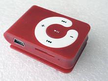 MP3 плеер Клипса + Наушники +USB переходник red (красный)