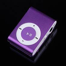 MP3 плеер алюминиевый Клипса + Наушники +USB переходник purple (фиолетовый)